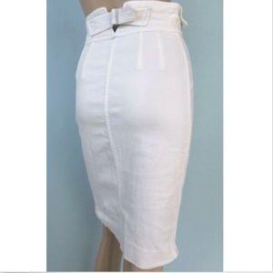 Yves Saint Laurent YSL Womens Pencil Denim Skirt S